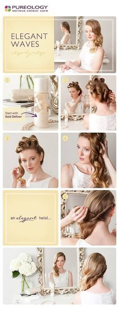 Easy pin curl waves