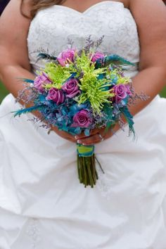 Peacock bouquet :  wedding Flowers