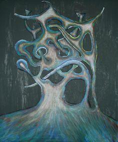 Título: Horror  Pintura. Técnica mixta, óleo sobre lienzo.
