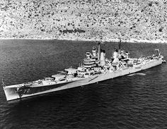 USS Pittsburgh anchored in Souda Bay, Crete, 8 May Uss Salem, Churchill, Invasion Of Poland, Military History, Naval History, The Last Ship, Heavy Cruiser, Pearl Harbor Attack, Battle Of Britain