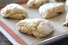 Two of my favorite flavors -- lemon and cranberry -- coupled with flour and sugar.  A perfect food!