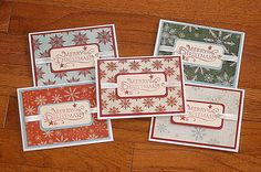Merry Christmas Set of Five Handmade Holiday Cards. $16.00, via Etsy.