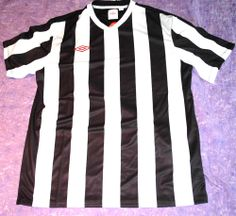 Umbro Men's Soccer Jersey Black and White Striped Sz L $45 NWT