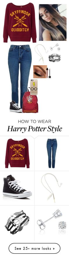 """""""HP 🤓⚡️📚"""" by karissawaldrop on Polyvore featuring Topshop, Converse, Amanda Rose Collection, Urban Decay, Jouer and Casetify"""