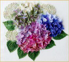 Summer Hydrangeas by Jennifer Bennett available from http://www.australianneedlearts.com.au/autumn-hydrangeas-jennifer-bennett#