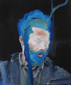Robert; acrylic on canvas; 18x15 in - Antoine Cordet