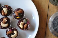 Кексы с нутеллой и орехами