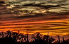 Dreamy sunset over Dove Mountain, AZ