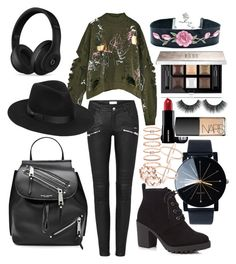 """""""Goals"""" by madisonkiss on Polyvore featuring Marc Jacobs, Beats by Dr. Dre, Red Herring, Lack of Color, Givenchy, NARS Cosmetics and Accessorize"""