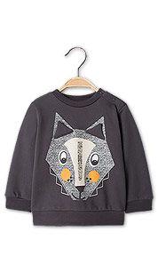 Sklep internetowy C&A | Bluza niemowlęca z bio bawełny - kolor: ciemnoszary 34,90 zł