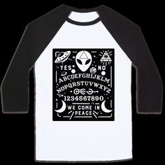 Get in contact with Aliens, not spirits. Everyone knows aliens are real, and you believe. If you're a punk, goth, occult-loving, extraterrestrial fanatic, this alien shirt is perfect for you! | HUMAN