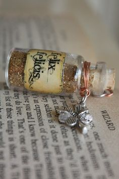 Felix Felicis Harry Potter Potion Vial Pendant. A super cute stocking stuffer
