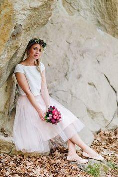 noni noni Brautkleider 2018 | Brautkleid mit Tüllrock in Rosa und Braut Bluse  (Foto: Le Hai Linh)