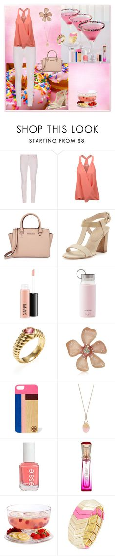 """""""Sweet Party"""" by oksana-kolesnyk ❤ liked on Polyvore featuring 7 For All Mankind, LE3NO, Michael Kors, Lola Cruz, MAC Cosmetics, Kate Spade, Tiffany & Co., Betsey Johnson, Tory Burch and Kenneth Cole"""