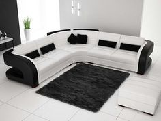 Leather Sectionals Black And White