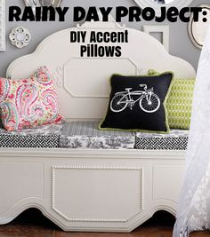 Need a change in your home decor? Learn how to make DIY Accent pillows for your home! Easy to change according to your mood and will give your home a different look every time! Get the directions here!