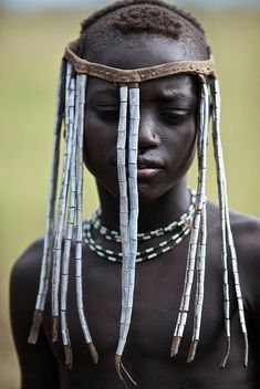 Mursi youth from the Omo Valley, Ethiopia