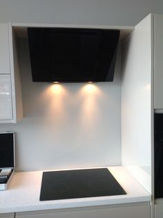 Really Funky Modern Kitchen Induction Hob Cooker And Extractor Hood