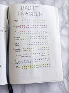 Bullet Journal Habit Tracker 2