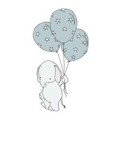Elephant Nursery Art Print Elephant Star by SweetMelodyDesigns