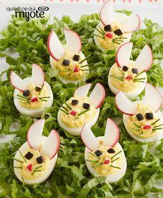 Œufs farcis en forme de lapin #recette