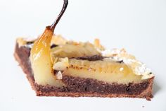 Tarte Bourdaloue poire chocolat - Recette Olivia Pâtisse Cacao, Cheesecake, Desserts, Food, Biscuits, Cupcakes, Inspiration, Sugar Free Chocolate, Caramel Apple