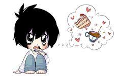 Death Note: Chibi L by XAngelFeatherX.deviantart.com on @DeviantArt