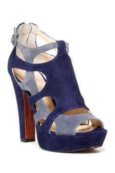 Montie Colorblock Sandal by Enzo Angiolini on @HauteLook