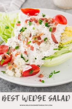 This traditional wedge salad recipe is a perfect warm weather sit down appetizer, it's a classic for a reason! Simple and quick to make. Great Appetizers, Easy Appetizer Recipes, Easy Healthy Recipes, Quick Easy Meals, Delicious Recipes, Dinner Recipes, Picnic Recipes, Dinner Ideas, Wedge Salad Recipes
