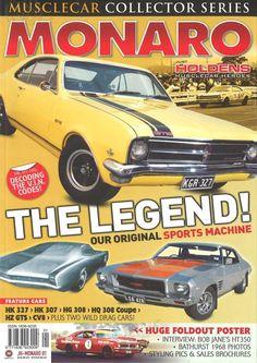 One of my cherished magazines. Holden Monaro, Holden Australia, Australian Cars, Car Signs, Car Badges, Hood Ornaments, Drag Cars, General Motors, Old Cars