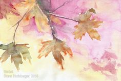 Herbst/ Autumn/ Otoño/ Automne/ 秋季 Watercolor And Ink, Painting, Watercolour, Watercolors, Painting Art, Paintings