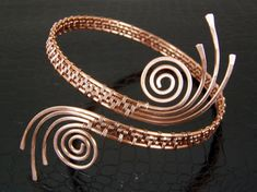 Copper Upper Arm Cuff Armlet Arm Band Bracelet with by BonzerBeads