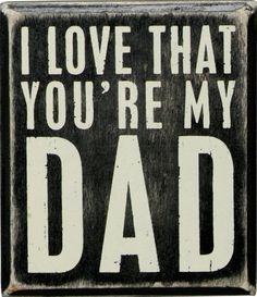 Wood Box Sign for Dad | Father's Day Gifts from Daughter