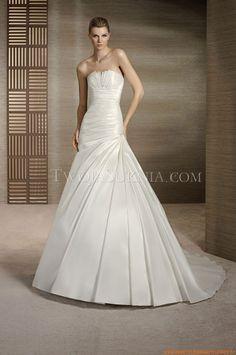 Trägerlos A-linie Elegante Brautkleider 2014 aus Satin
