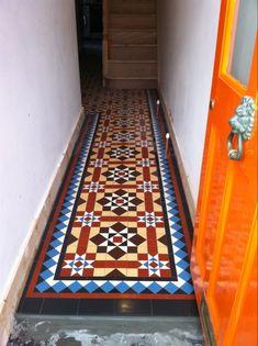 Victorian Fireplace Tiles, Victorian Hallway, Victorian Tiles, House Entrance, Entrance Hall, Mosaic Tiles, Tiling, Fireplace Tile Surround, Unique Tile
