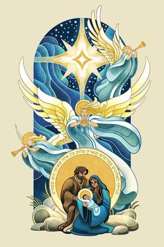 Nativity by WesTalbott on DeviantArt Catholic Art, Religious Art, Nativity Painting, Jesus Art, Mary And Jesus, Biblical Art, Holy Mary, Jesus Pictures, Christmas Nativity