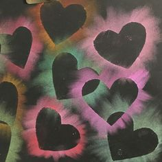 Today, Kindergarten is finishing up their lil snowy owls, and we had a little extra time to start another project before class was over. So I decided we could make these heart chalk rubbings… More