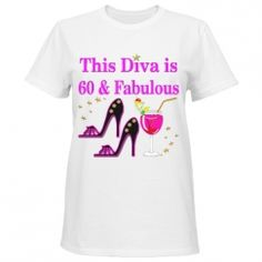 JLP Birthday Designs Dazzle, sparkle, and shine with our fabulous 60th birthday T Shirts. http://www.customizedgirl.com/s/JLPBirthday #60yearsold #Happy60thbirthday #60thbirthdaygift #60thbirthdayTShirts #Personalized60th #Happy60th