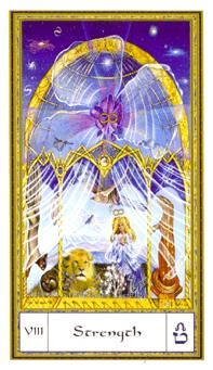 May 13 Tarot Card: Strength (Gendron deck) Strength is not shown by force and control, but through compassion, consciousness, and courage ~ nothing is more powerful than strength of mind, and strength of spirit