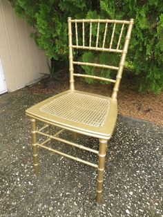 Gold Bamboo Dining Chairs, Faux Bamboo, Hollywood Regency, Side Chairs, Mid Century, Gold, Furniture, Home Decor, Decoration Home