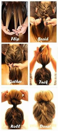 #Beauty : How to Do The Upside Down French Braid Bun | My Favorite Things
