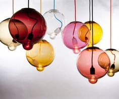 Cool Colorful Round Lamps by Johan Lindstén