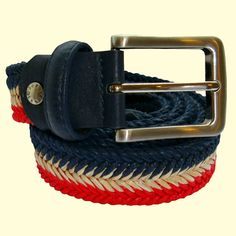 A stunning designed woven belt. Blue Brown, Green And Grey, Red And White, Woven Belt, Red Color, Belts, Chevron, Purple, Style