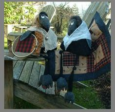 Old Quilting Crow pattern by www.countryquilts.ca