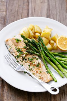 Pan-Fried Trout with Garlic, Lemon, & Parsley from @loveandoliveoil