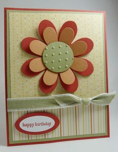 Stampin' Up! - uses flower folds sizzix die