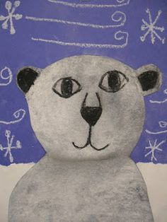 artic art, polar bear art for kids