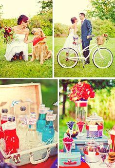 4th of July Wedding inspiration - #summerwedding #July4wedding #weddingpicnic