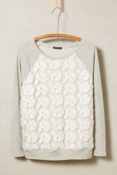 Anthropologie Petal-Pop Sweatshirt #anthrofave #anthropologie