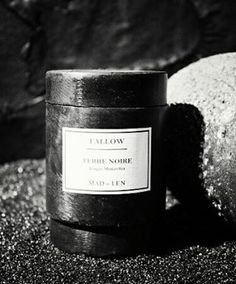 Terre Noire by Mad et Len for Fallow ] Handpoured soya candle presented in a hand hammered metal vessel... www.fallow.com.au